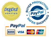 Payments are processed via the Secure PayPal Payment Gateway